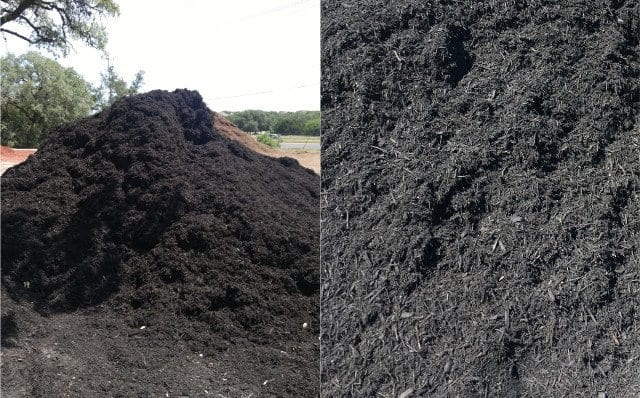 Black Dye Mulch - Texas Soil and Stone