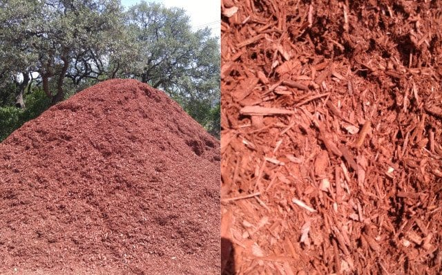 Red Dye Mulch - Texas Soil and Stone San Antonio