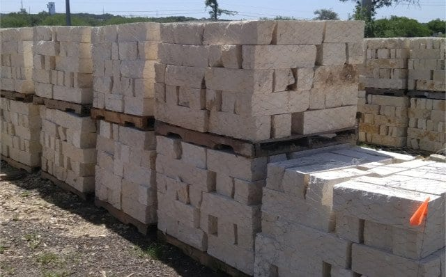 White Chop Block - Texas Soil and Stone San Antonio